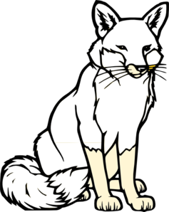 Black And White Fox Png At Vector Png