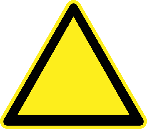 Caution Sign Yellow And Black png