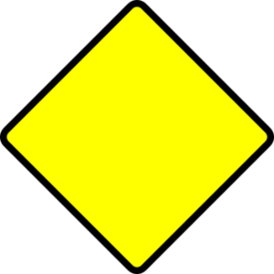 Yellow And Black Caution Sign png