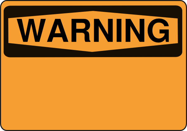 Blank Caution Sign Warning png