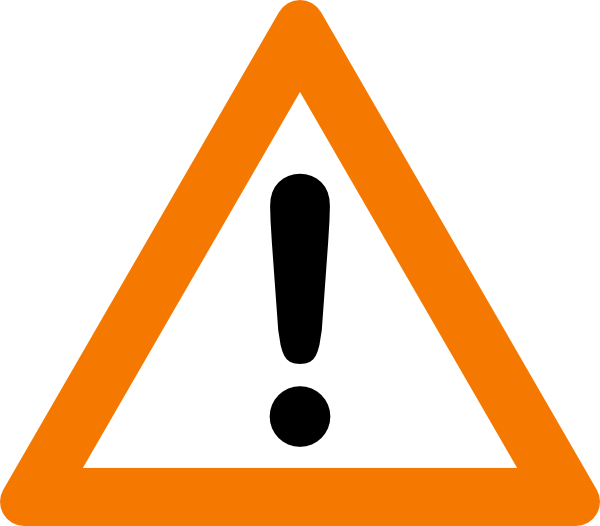 Caution Sign Warning Yield Sign png