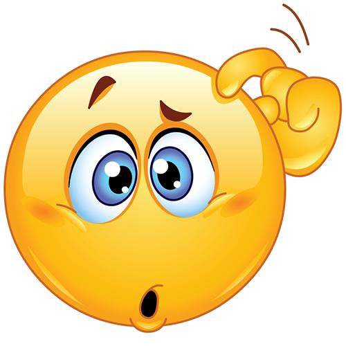 Confused Emoticon PNG
