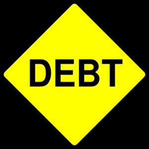 Debt Caution Sign png