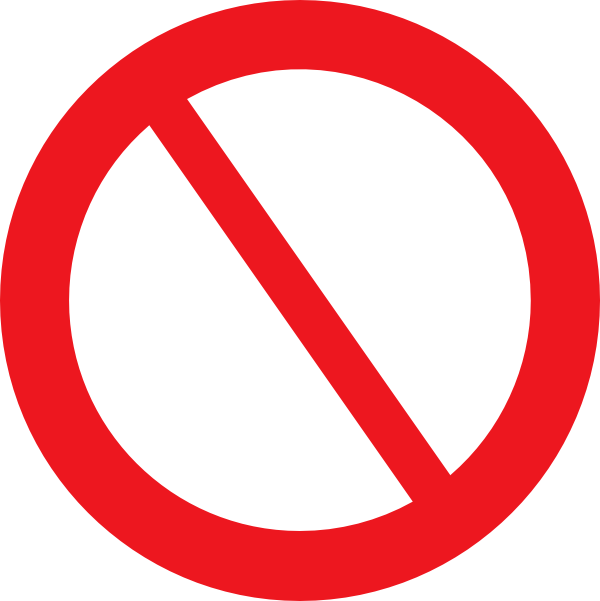 Empty Prohibited Sign Png At Vector Png
