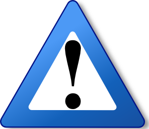Exclamation Point Blue Exclamation Mark Png