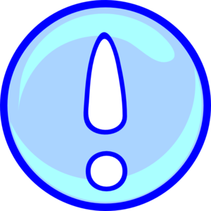 Exclamation Point In Blue Png At Vector Png