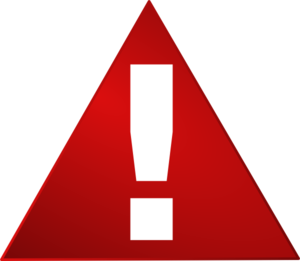 Exclamation Point Red Warning Triangle White Exclamation Mark Png At
