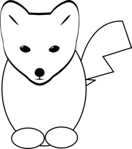 Fox Head Png Black And White