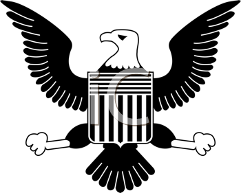 American Eagle Black And White png