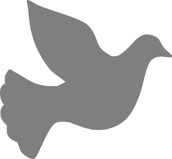 Grey Love Dove Png At Clker Vector Png