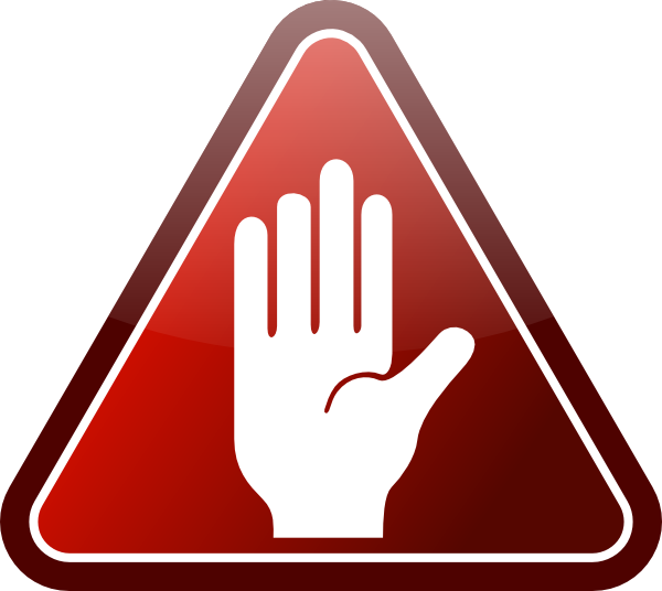 Hand Stop Sign Png Kid 3