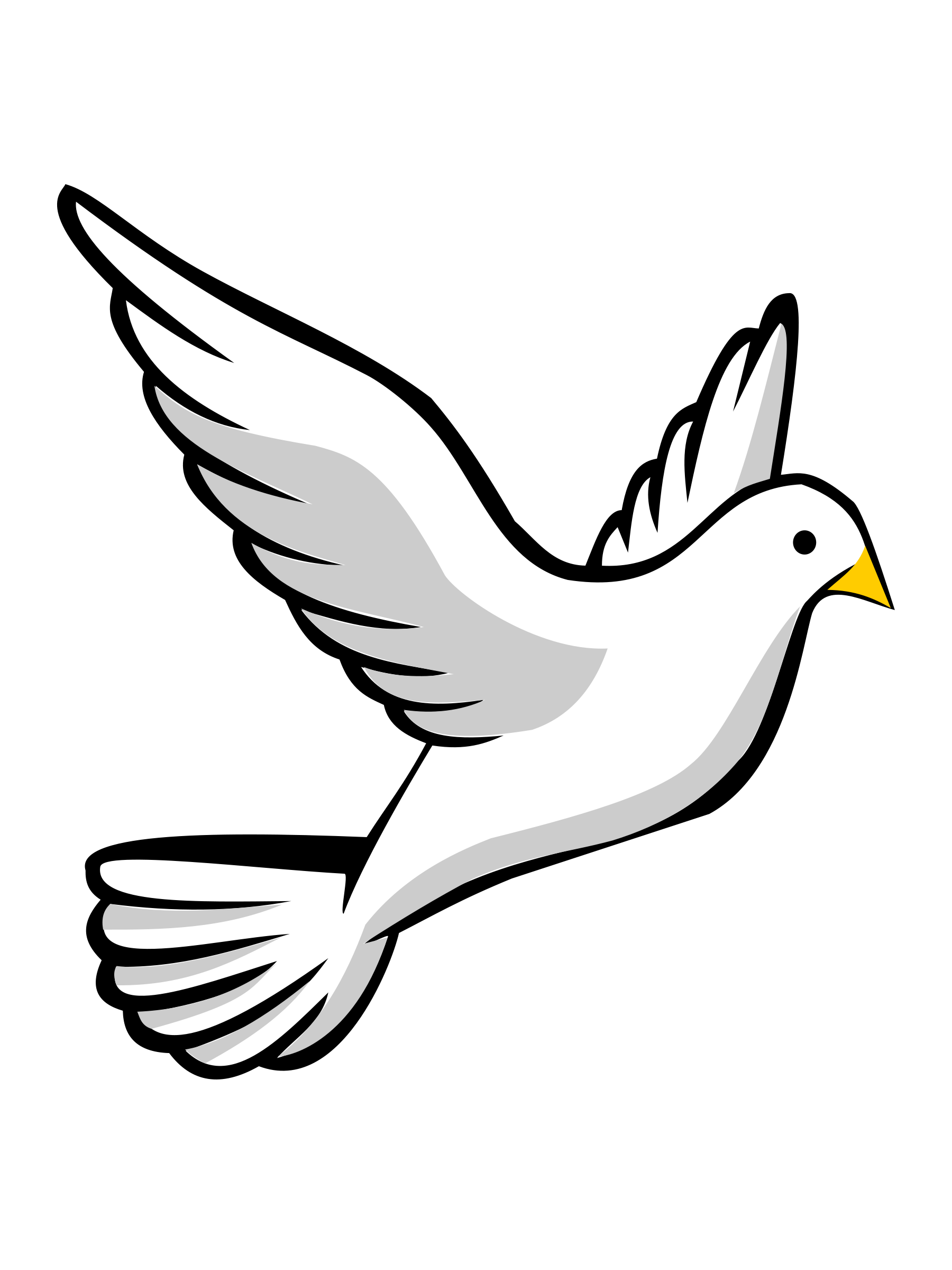 Holy Spirit Dove Png Black And White Free 2