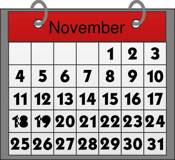 November Calendar Png Kid