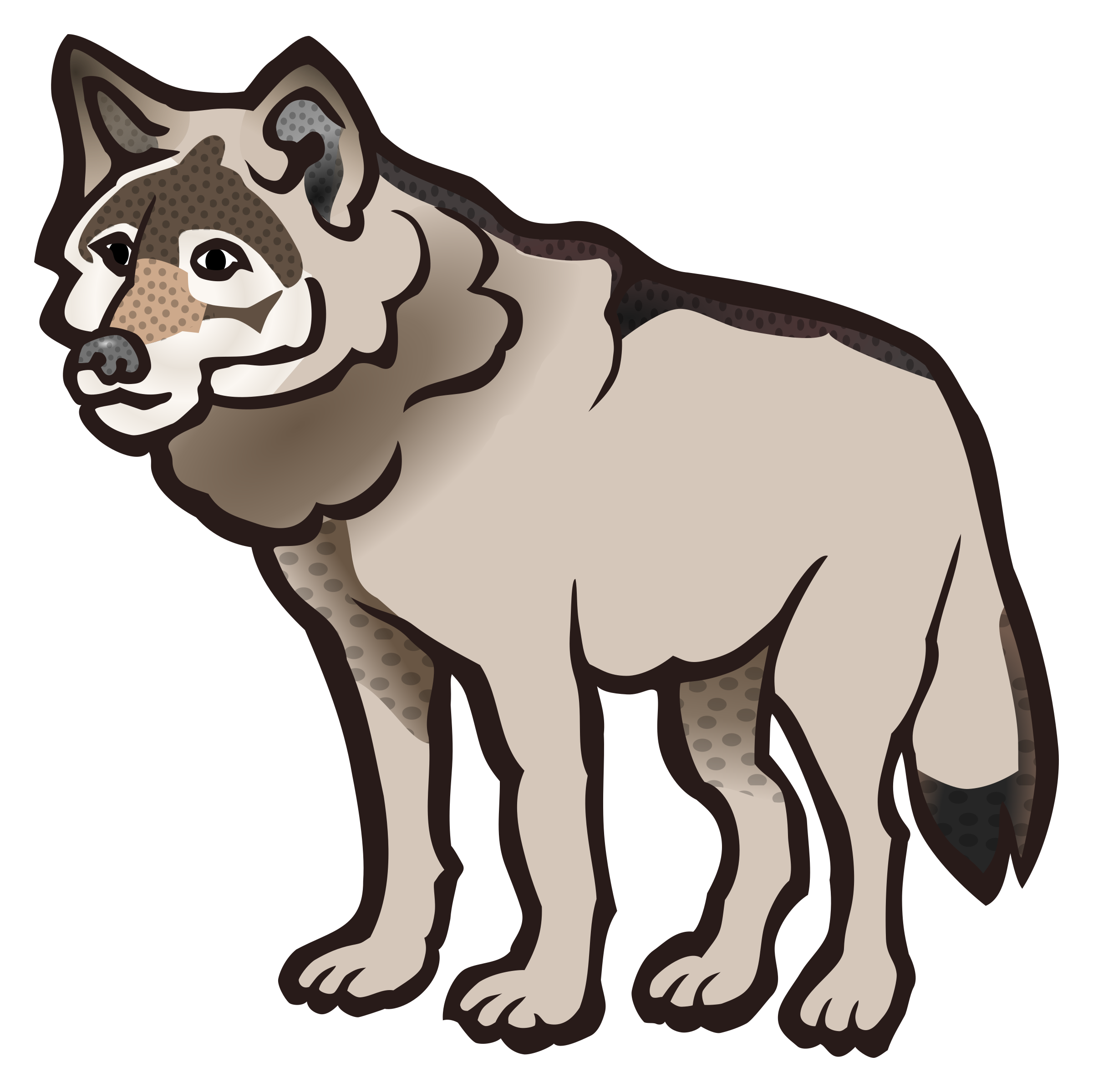 Png Wolf Coloured