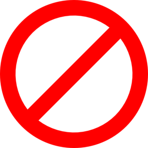 Prohibited Sign Sign Png At Vector Png Free
