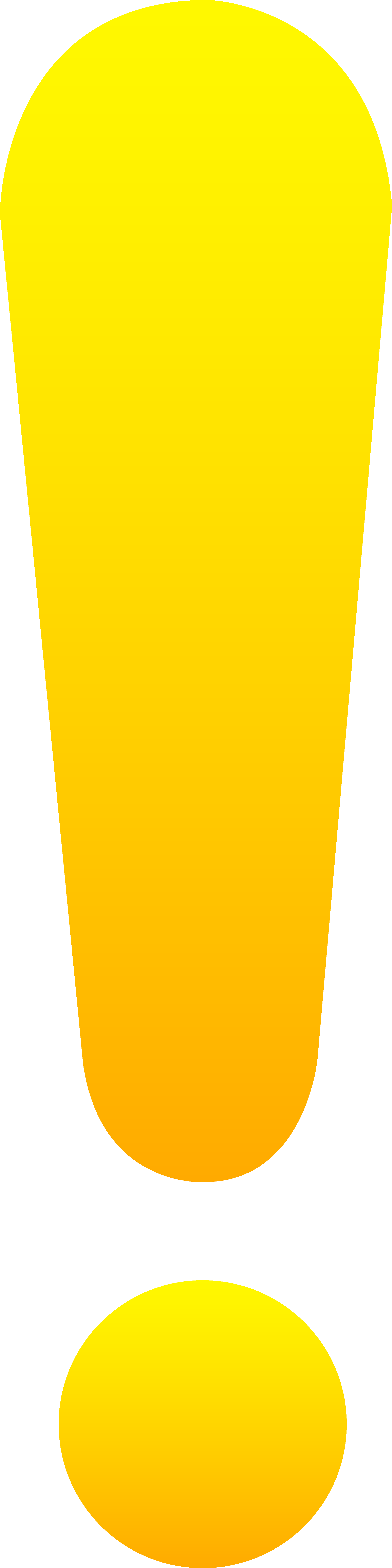 Simple Yellow Exclamation Point Free Png