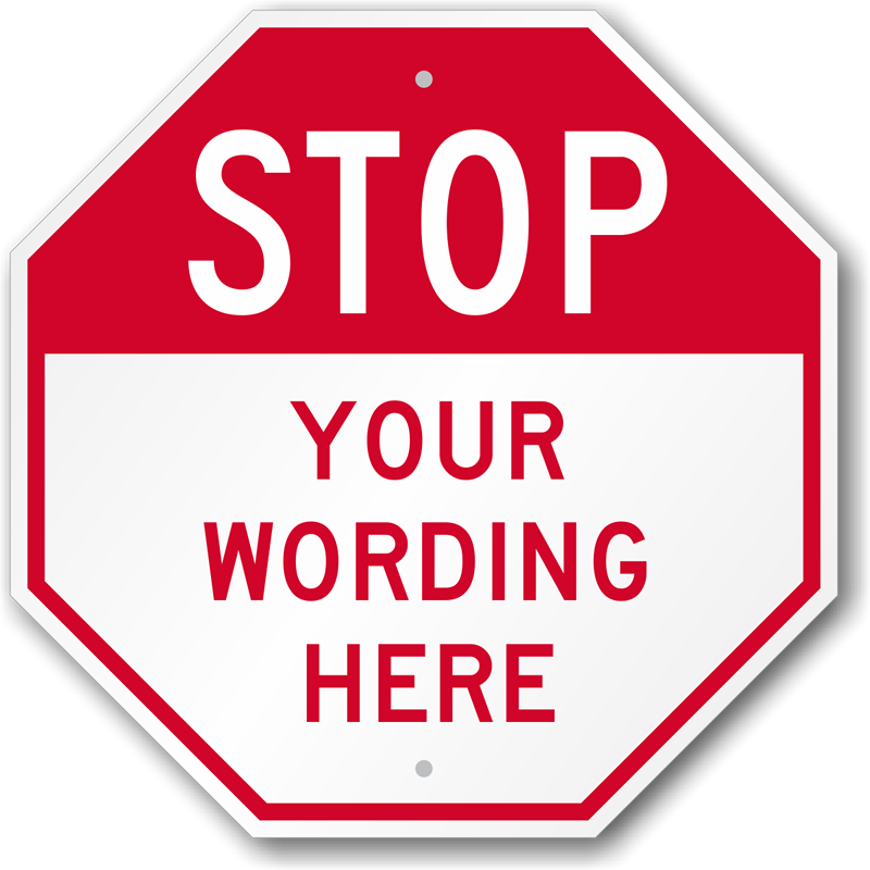 Template For Stop Sign Png