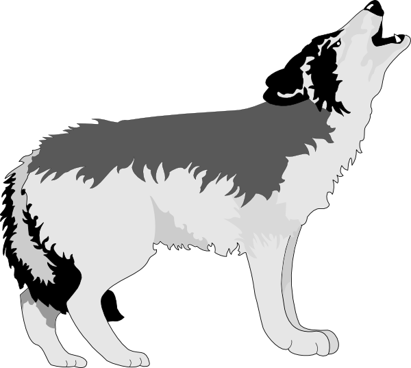 Wolf Howling Png At Clker Vector Png