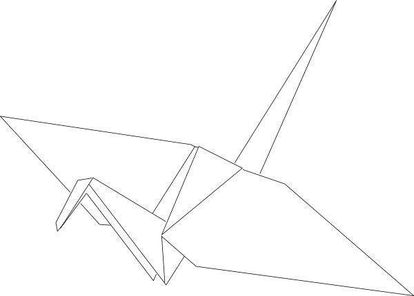 Paper Crane Png Outline Download Vector Clip