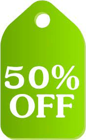 50% Off Light Green And White png