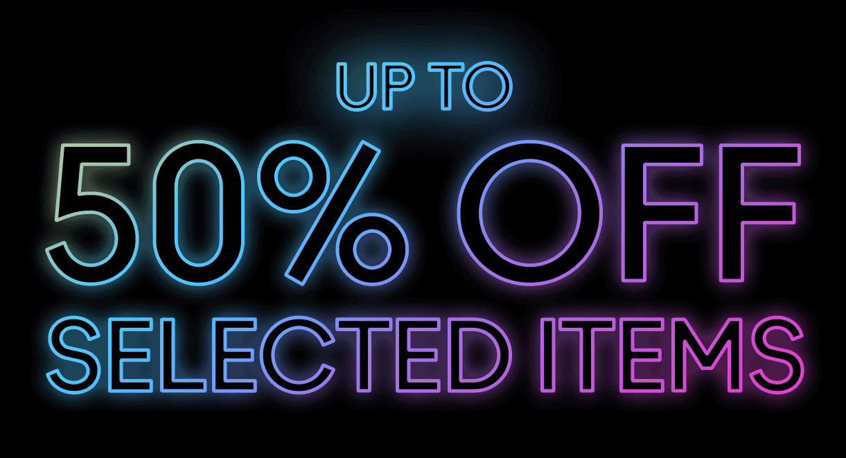 50% Off Neon Text png