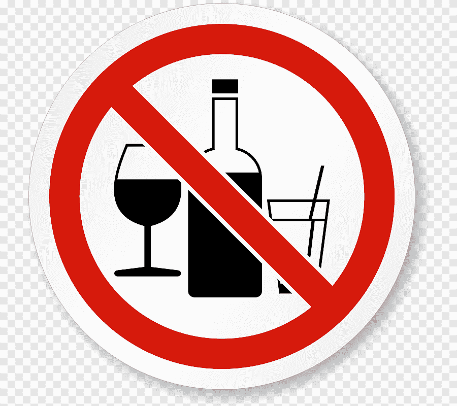 Alcohol And Beer Prohibited Sign Png
