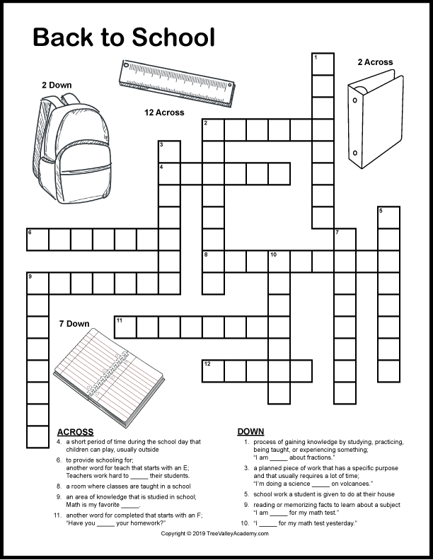 Back to School Word Search Printable Test png