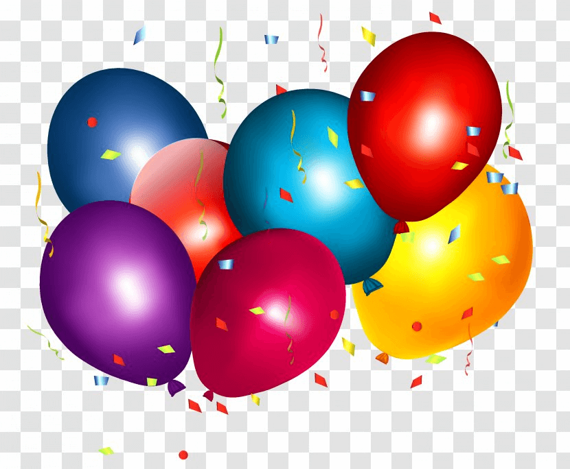 Balloon And Confetti In Birthday png