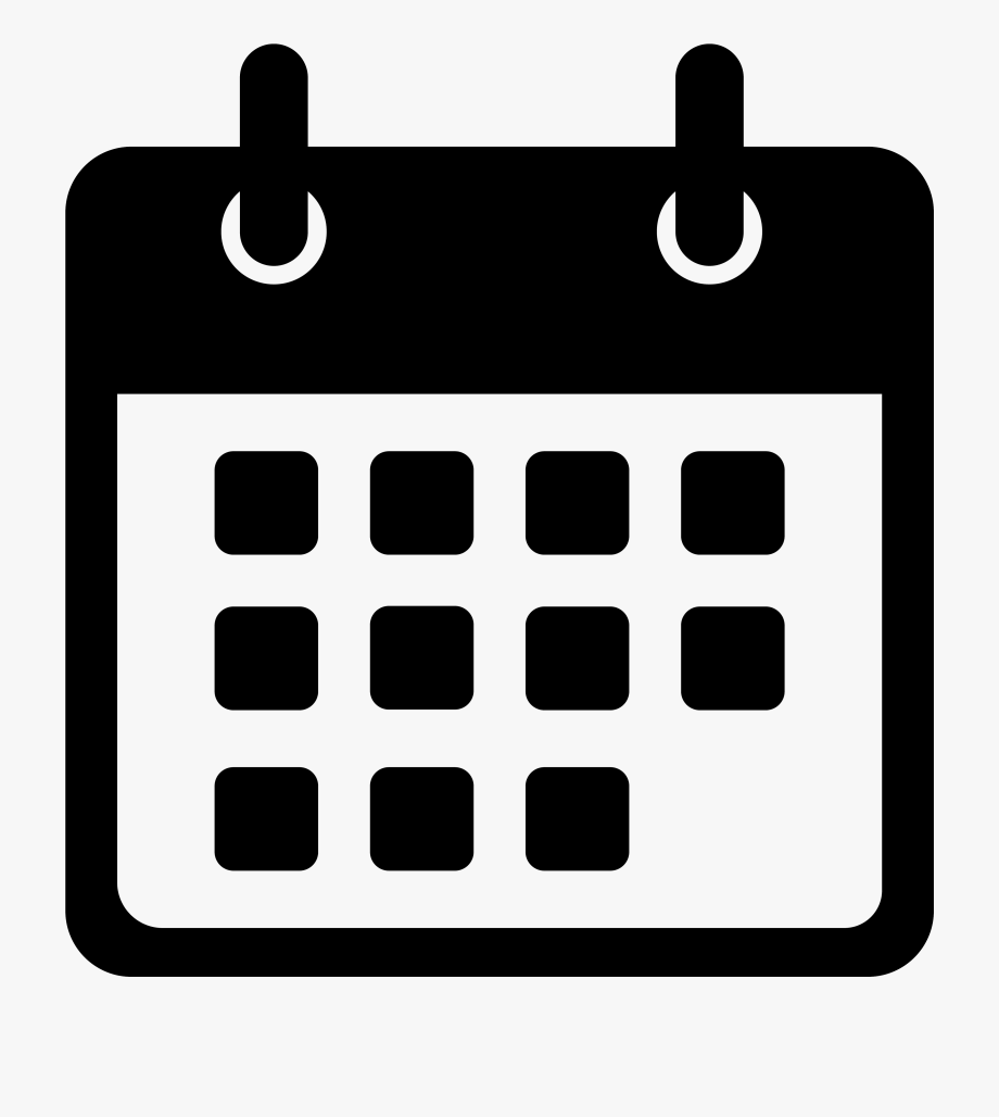 Black And White Calendar Icon Png