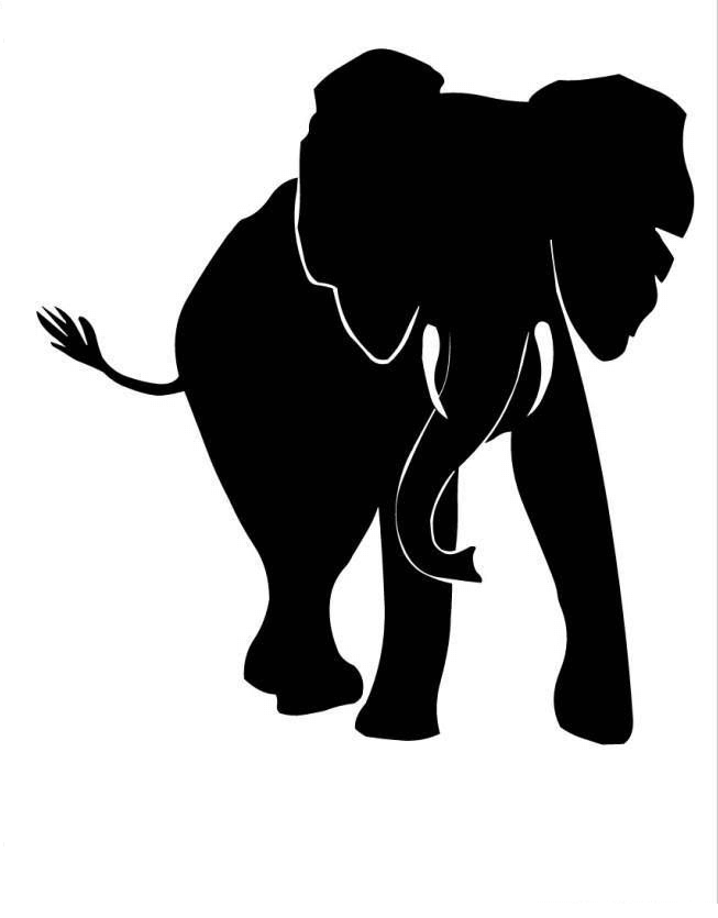 Black Elephant For Animal Free To Use Png