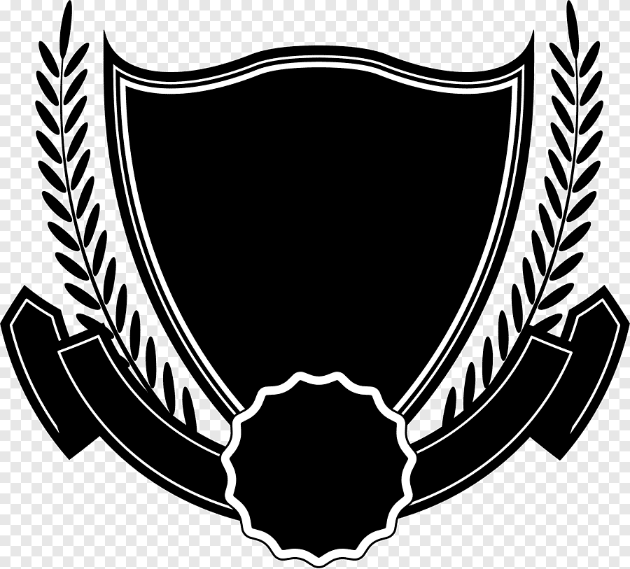 Black Shield Ribbon Png