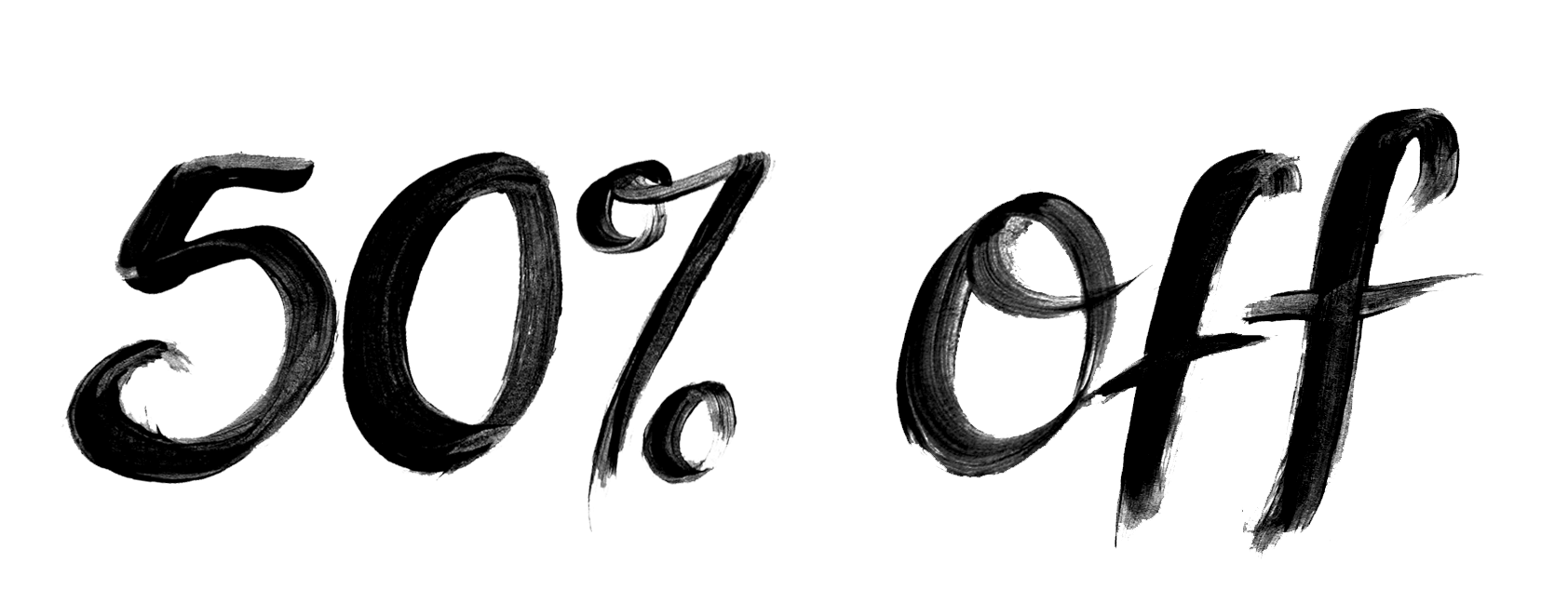 Black Text 50% Off png