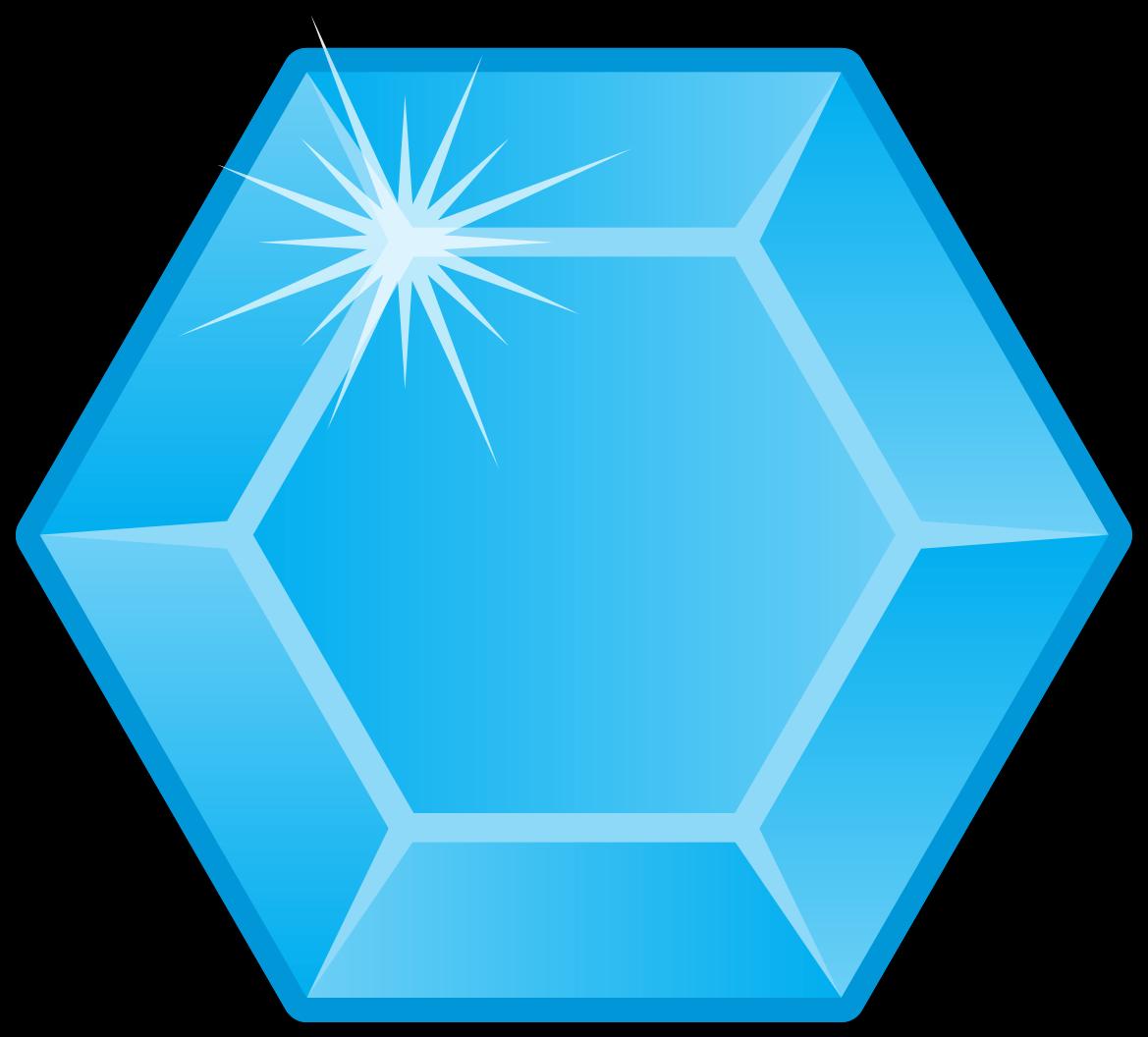 Blue Diamond Hexagon png