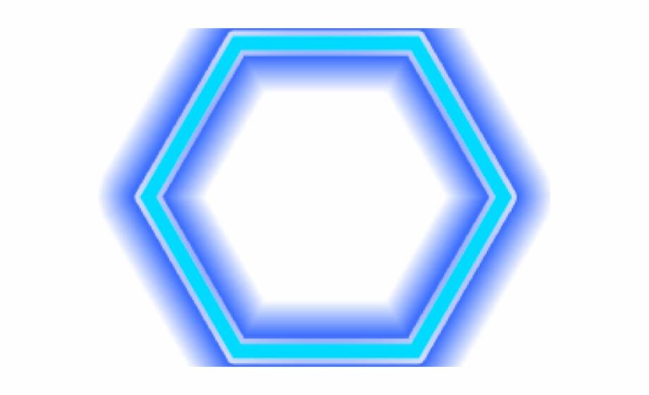 Blue Neon Hexagon png