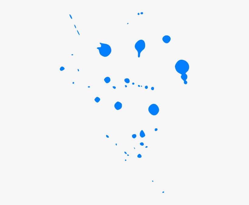 Blue Paint Splatter Free Images png