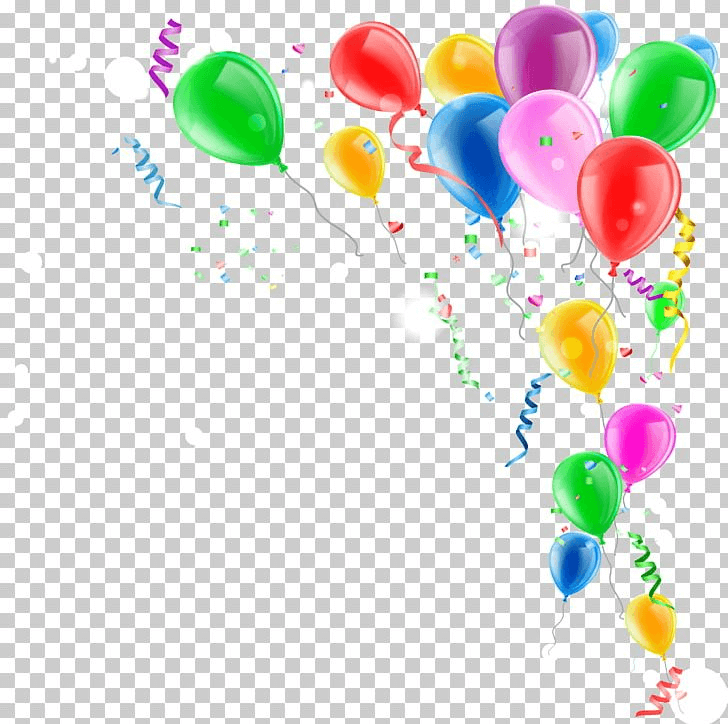 Confetti And Balloon png