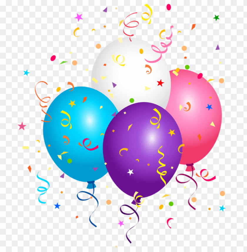 Confetti With Balloon png