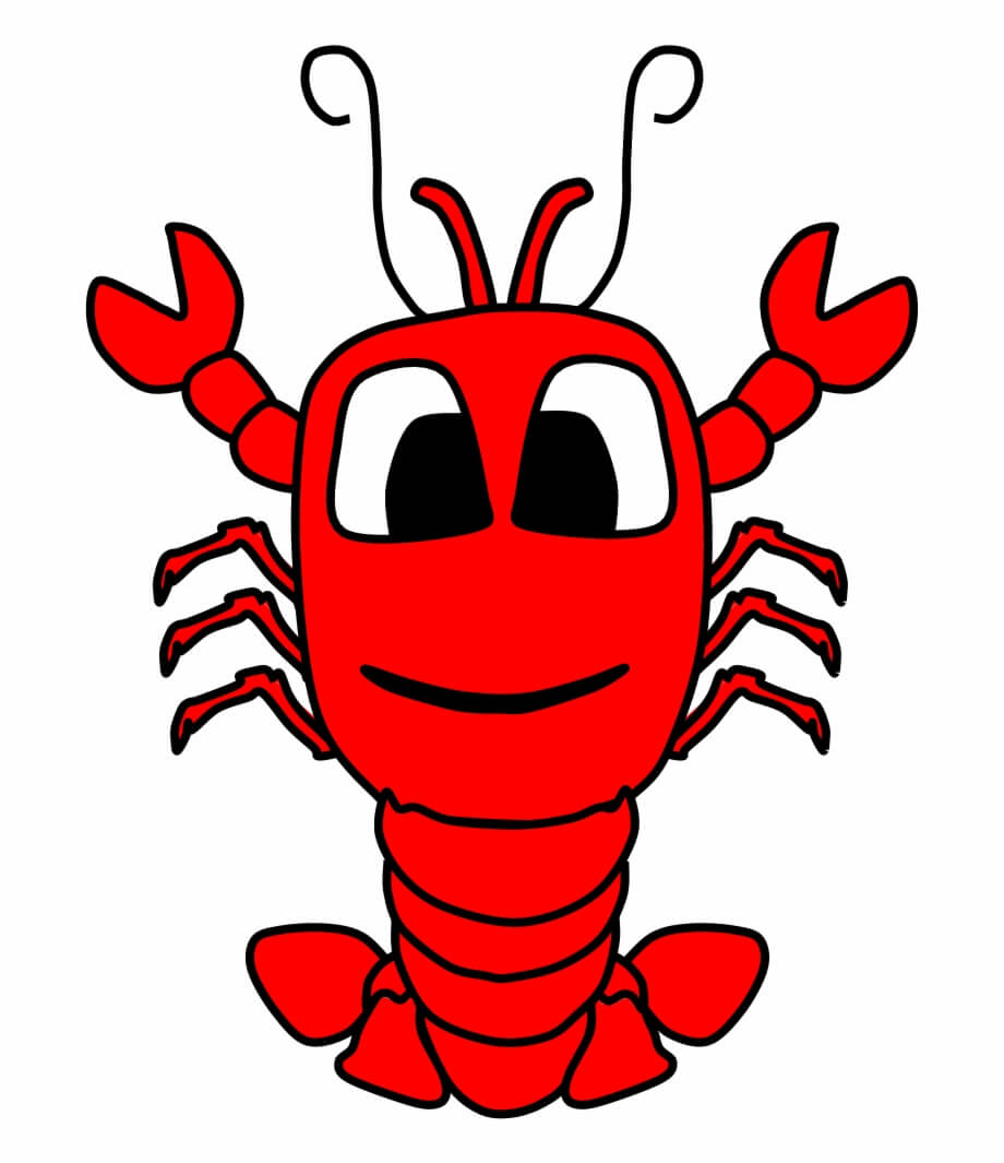 Cute Big Eyes Lobster Free Png