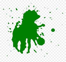 Dark Green Paint Splatter png