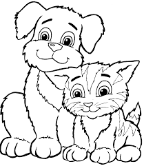 Dog And Cat Black And White Png