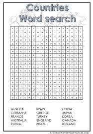 Download Countries Word Search Printable Free Idea png