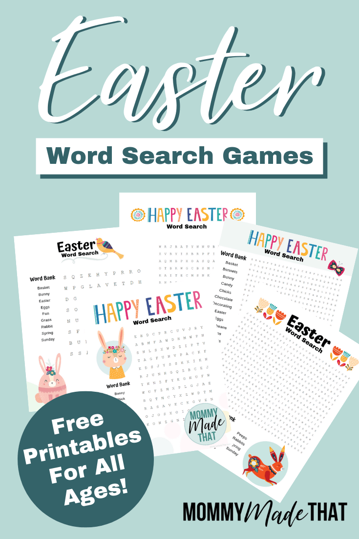 Easter Word Search Printable Game png