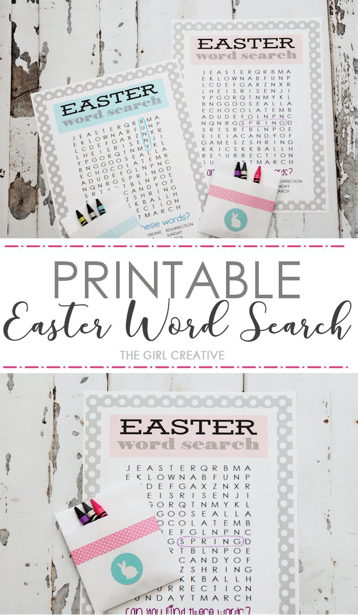 Easter Word Search Printable Web png