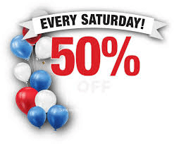 Every Saturday 50% Off png