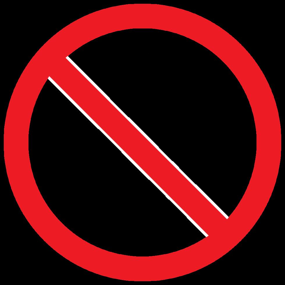 Forbidden Sign Fire Png