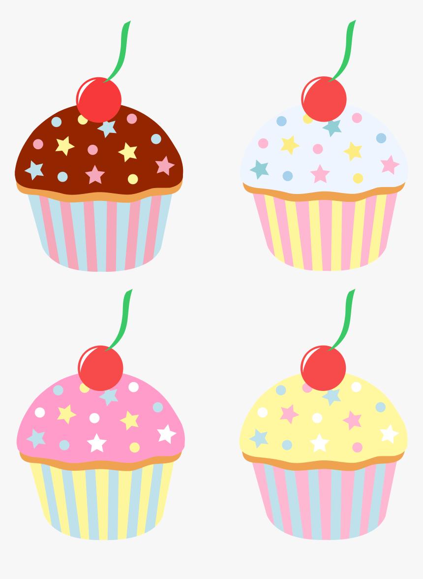 Four Cupcake Png