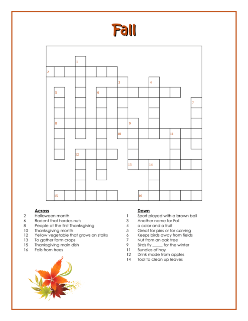 Free Fall Word Search Printable Download png