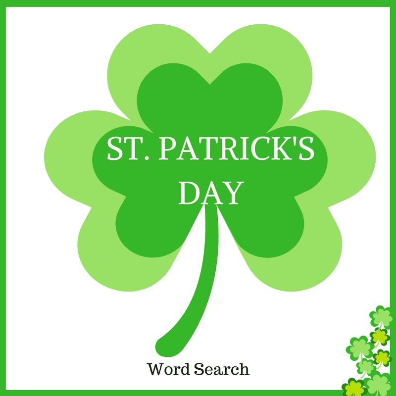 Free St Patrick's Day Word Search Printable Idea png