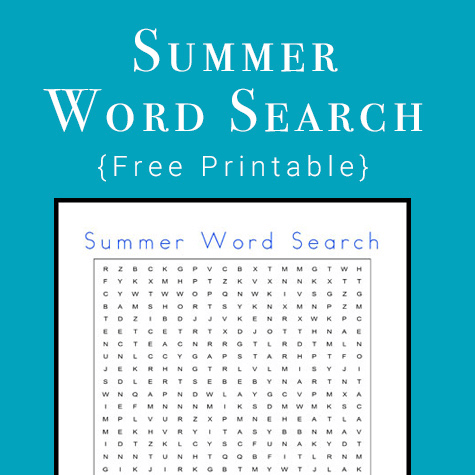 Free Summer Word Search Printable Download png