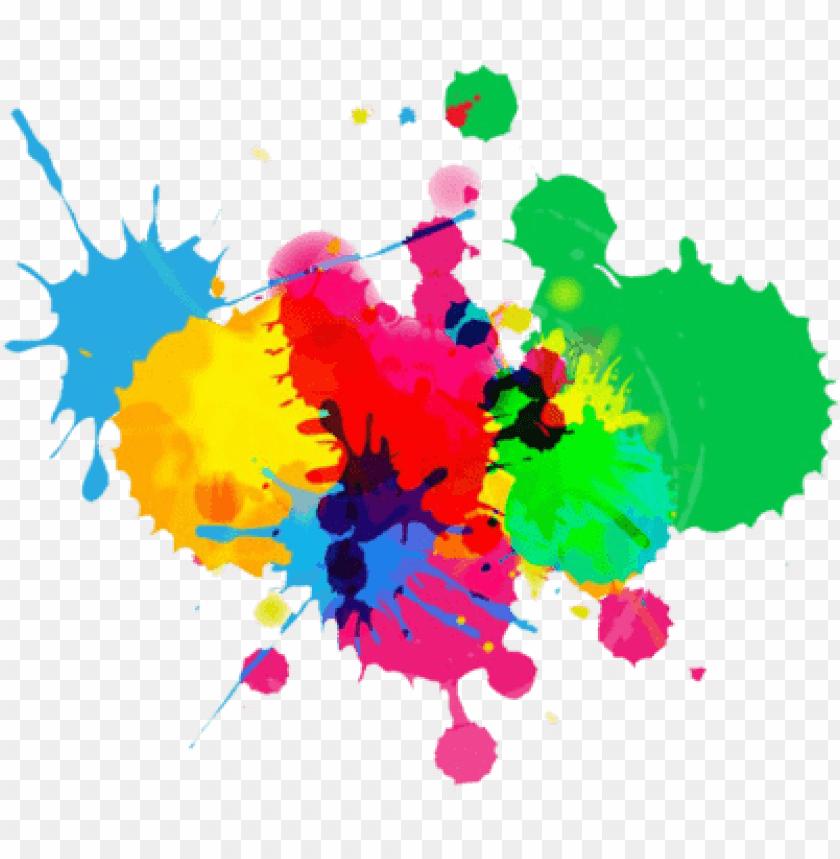 Full Color Paint Splatter png